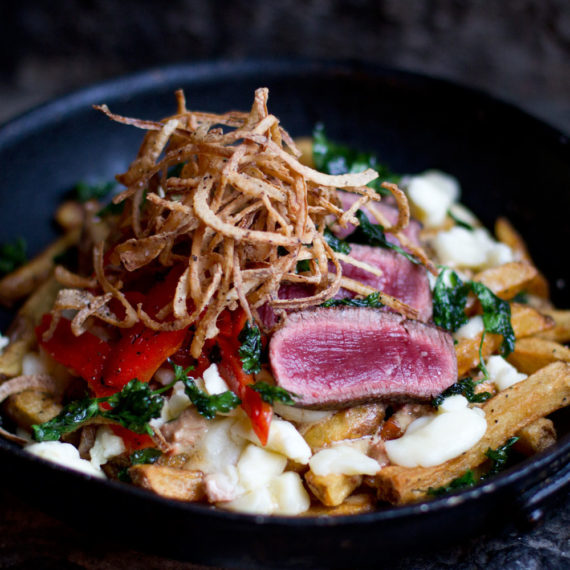Wagyu Philly Steak Poutine Champagnerie style - La Champagnerie